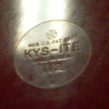 Vintage Kys-Ite Serving Trays burgundy Set of 4 Heavy Duty