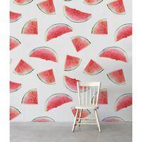 Watermelon Watercolor removable wallpaper self adhesive wall mural peel & stick