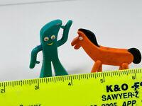 Vintage Pair Jesco Prema Rubber Gumby & Pokey toys figures