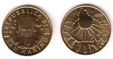 1999 San Marino Lire 200 Il Cielo Antico Fior di Conio Uncirculated