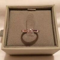 Platinum Diamond Solitaire Ring - Size J