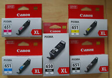 5pcs Genuine Canon PGI650XL CLI651XL Ink IP7260 MG5460 MG6360 MG7160 MX726 MX926