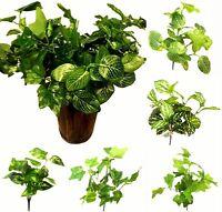5x Artificial Leaf Leaves Fake Plant Bush Foliage Home Office Restaurant Décor