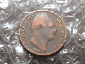 1837 William IV farthing.