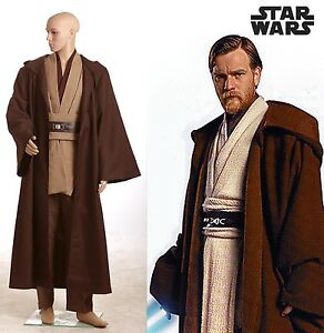 Star Wars Revenge of the Sith Obi Kenobi Wan Cosplay Costume Jedi Suit Outfit