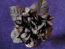 "Millinery Flower 1 3/4"" Violets all Black Lot of 20 Bridal Wedding Hair Y100"