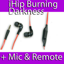 iHIP BURNING DARKNESS ILLUSIONS NOISE ISOLATING EARPHONES WITH MIC REMOTE PHONE