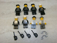 8 LEGO City Police Officer & Jail Prisoner Minifigures Policemen Leather Jacket