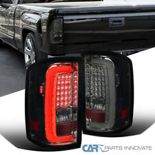 For GMC 14-18 Sierra 1500 2500HD 3500HD Pickup Smoke LED Tail Lights Brake Lamps