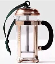 New Starbucks Rose Gold Miniature Coffee French Press Christmas Ornament 2017