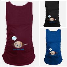 AU Women Summer Plus Size Pregnant Clothes Trendy Tank Top Maternity Wear Vest