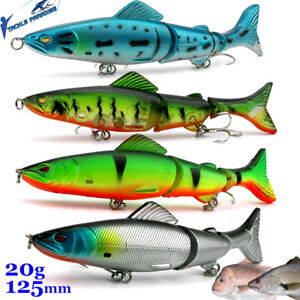 4x Swimbait Fishing Lures Jointed Sinking Swim Stick Bait Jewfish Cod Tackle