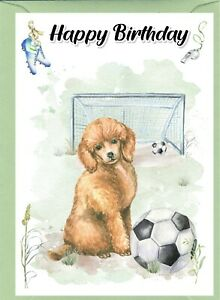 "Poodle (Apricot) Dog (4""x 6"") Birthday Card - blank inside - by Starprint"