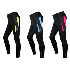 Women's Fleece Thermal Cycling Pants PaddedWinter Tights Bike Trousers 3 Color