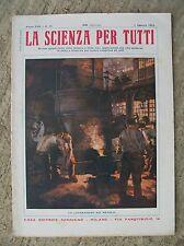 Rivista LA SCIENZA PER TUTTI N.15 1 Agosto 1914 Ed.Sonzogno