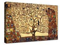 Quadri Moderni Albero Della Vita Klimt Arte XXL Cm 100x70 Stampa su Tela Canvas
