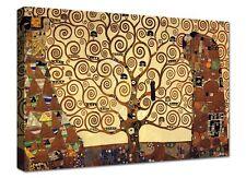 Quadro Moderno 1 Pz Cm 100x70 Stampa su Tela Albero Della Vita Gustav Klimt Arte