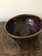 WINCHCOMBE EARTHENWARE STUDIO POTTERY BOWL - With Impression