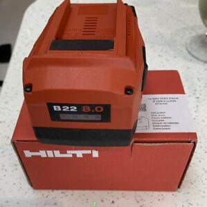 HILTI B22 8.0 New Boxed Battery 2021 Ref05#