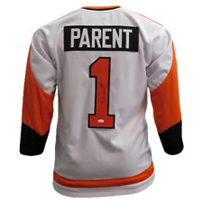 Bernie Parent Autographed White Hockey Jersey (JSA COA)