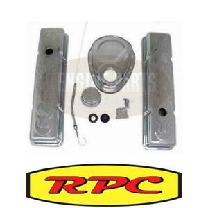 RPC Engine Dress Up Kit Flamed with Tall Valve Covers SB Chev V8 RPCR3034