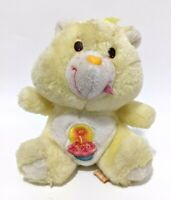 "Vintage Original 1983 Care Bears Birthday Bear Kenner Plush Stuffed Mini Toy 6"""