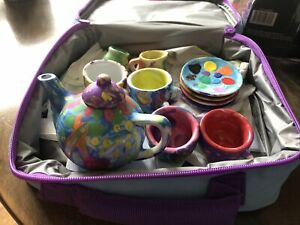 Child's porcelain toy tea set