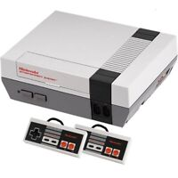 Nintendo Original NES Console System All Hookups Refurbished w/ 2 Controllers