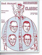 1963 Milwaukee Classic Doubleheader Program Wisconsin Marquette Dartmouth Tech!!