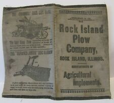 Rock Island Plow Company CLOTH Notebook Horse Drawn Sulky Gang Plow Corn Planter
