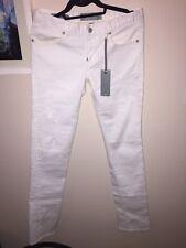 Paper Denim & Cloth White Natalie Low Rise Peg Leg Denim Jeans Size 28
