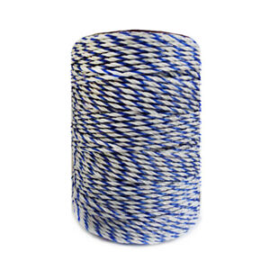 Electric Fence White Blue Poly Wire With Steel Wire Poly Rope For Farm Electric