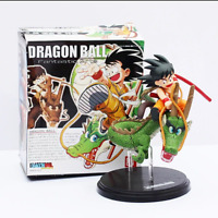 17cm Dragon Ball Z Fantastic Arts Action Figure Son Goku Riding Shenron Model