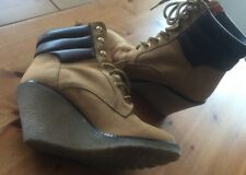 Original Buffalo Boots Stiefeletten Wedges Leder/Wildleder EUR Gr. 40 US 9 UK 7