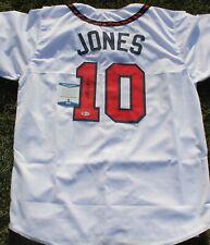 Chipper Jones Signed Custom Atlanta Braves Jersey w/Beckett COA Hall of Fame