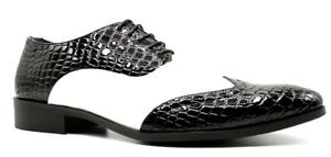 Herren Schuhe, Al Capone, Mafia, schwarz weiss, Kroko, Lack, sehr extravagant