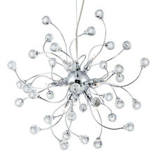 Searchlight 12 Light Halogen Chrome Ceiling Pendant Crystal Balls Trimmings New