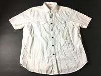 Tommy Bahama Jeans Mens White Front Pocket Button Front Shirt Size XL Modern Fit