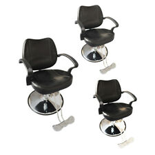 3Pcs Hydraulic Barber Chairs Hair Cutting Stylist Station Salon Beauty Equipment