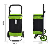 E140 Rugged Aluminium Luggage Trolley Hand Truck Folding Foldable Shopping Cart