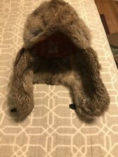 Mad Bomber Rabbit Fur Trapper Hat Camouflage Insulated Chin Strap Size Medium