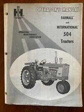 McCormick Farmall and International 504Tractor Operator's Manual