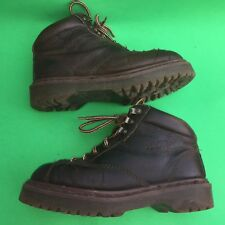 Dr-Martens women's fashion lace up brown leather boots size-us7 uk5