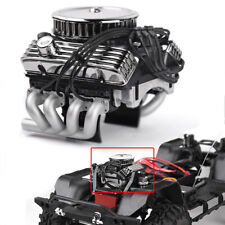 F82 V8 Simulate Engine Motor Cooling Fan Radiator for 1/10 RC TRX4 SCX10 II GEN8
