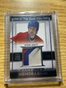 2015-16 LEAF ITG USED PATCH 3 COLORS SP 7/9 STEVE SHUTT HABS WOW HOCKEY CARDS