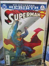 Superman #2 Variant Cover DC Universe Rebirth Comics Tomasi Gleason Gray Kalisz