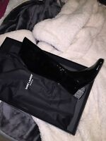 Women's black YSL mid calf boots size US 9 & UK 39 run small so fits like a US 7