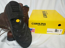 """Carolina Steel Safety Toe Brown Leather Work Boots 8"""" Mens Size 9 4E Wide"""