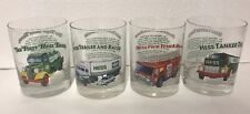 1996 Hess Trucks Collectible Glasses Set Glass Tumbler Barware Gas Oil Company