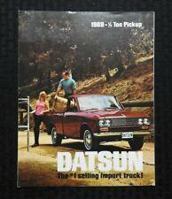 "1969 ""DATSUN MODEL L-521 1/2 TON PICKUP TRUCK"" SALES BROCHURE RARE & MINTY"